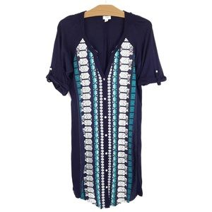 TINY Anthropologie Nadia Embroidered Shirt Dress L